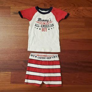 Old Navy All American Pajama Set Size 18-24 Months